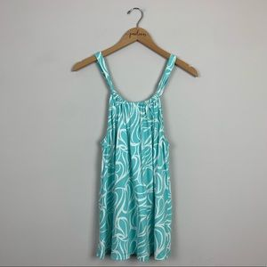 Boden Blue Geometric Tie Back Tank 10